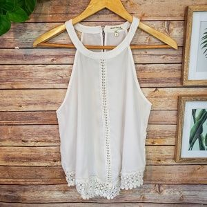 🌿Monteau Los Angeles Lace Tank Top Size Small🌿